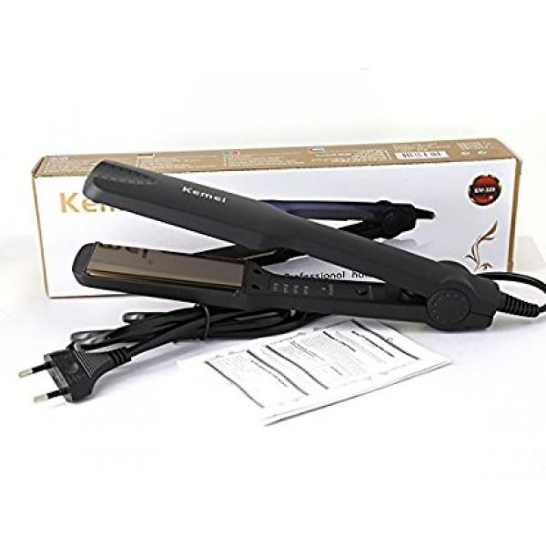 Σίδερο Μαλλιών Kemei KM-329 για Ίσιωμα με Κεραμικές Εστίες