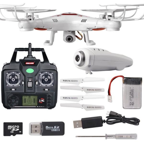 Drone με HD Cam Τηλεκατευθυνόμενο Τετρακόπτερο K300C HawkEye