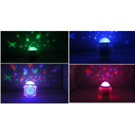 Star sky projector alarm clock