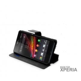 Sony Xperia E4 θήκη πορτοφόλι & stand
