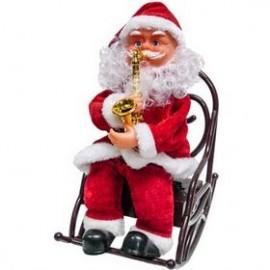 Άγιος Βασίλης που Παίζει Σαξόφωνο σε Καρέκλα με Ήχο - 25 εκ.