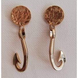 Χρυσά Σκουλαρίκια άγκυρα (faux bijoux) - Stellinas Collection