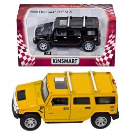 "PULL BACK 5""1:40 HUMMER H2 SUV μηκος 16cm 90642 70-622"