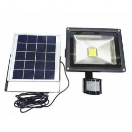 Solar αυτόνομος ηλιακός προβολέας 10W ip65 6000k με ανιχνευτή κίνησης- φωτός λευκό OEM - SL10PIR
