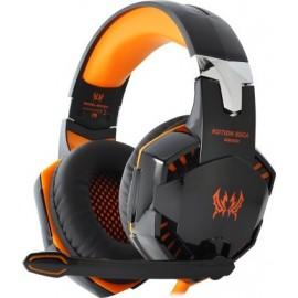 KOTION EACH G2000 ακουστικό με δυνατότητα επέκτασης 3,5 mm για φορητά ακουστικά με μικρόφωνο για παιχνίδι PC Πορτοκαλί