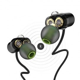 AWEI Bluetooth Headphones,Wireless Headphones Lightweight Magnetic Earbuds In-Ear Earphone Sports Headsets with Mic,Four Dynamic Driver,Noise Cancelling,IPX5 Waterproof Sweatproof