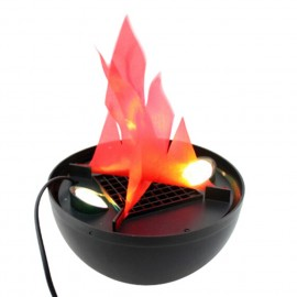 Wholesale-Halloween Electric Brazier Funny Fake Fire Basket Flammen Lampe Holiday Supplies 20*20cm