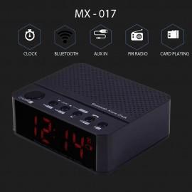 MX - 017 Portable Desktop Alarm Clock Bluetooth V2.1 Stereo Speaker - WHITE 153164901