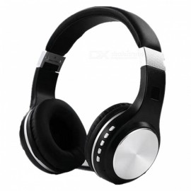 SY-BT1601 Bluetooth Wireless HIFI Bass Stereo Headset - Black + Silver