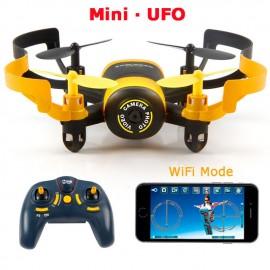 JXD 512W JXD512W 2.4Ghz WiFi FPV Mini UFO One-Key-επιστροφή & απρόσκοπτη λειτουργία RC Quadcopter με 0.3MP HD κάμερα RTF