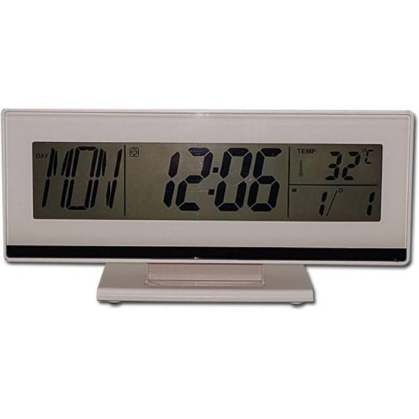 Tuelip Ψηφιακό φωνητικό έλεγχο Ξυπνητήρι LCD ξυπνητήρι λευκό