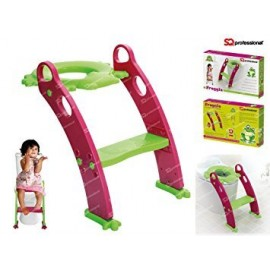 Froggie Toddler Τουαλέτα SEAT με σκάλα πράσινο και μοβ παιδιά Βήμα UP ΚΑΡΕΚΛΑ.