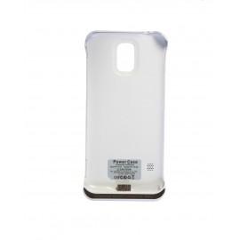 Li-πολυμερές μπαταρία εξωτερική θήκη τροφοδοσίας για το Samsung Galaxy S5 - λευκό